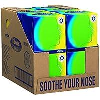 Kleenex 8825 Balsam Veline per il viso in box quadrato, 12 scatole x 56 fogli a 3 veli, colore: Bianco