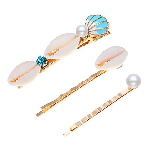 Haarspange einfache Mode Shell Bogen Blume Perle Haarnadel Set Haarschmuck für Mädchen ()