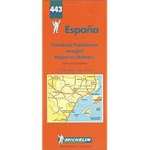 Carte routière : Espagne Nord-Est - Baléares, N° 443