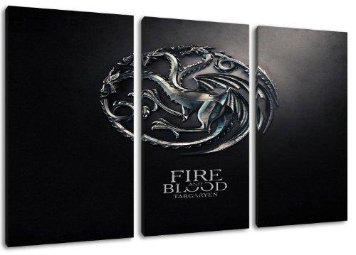 dark-targaryen-crest-game-of-thrones-theme-3-pieces-sur-toile-taille-totale-120x80-cm-lart-de-haute-