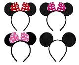 WENTS Orejas de Minnie Mickey Mouse Diademas Niña Mujer Adulto...