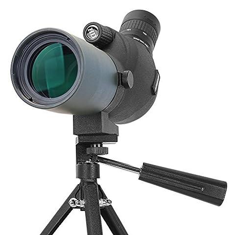 Aomekie AO4010 15-45X50 Spotting Scope Telescope, Waterproof Birdwatching Monocular Travelscope W/ Tripod for Archery Hunting Camping Wildlife