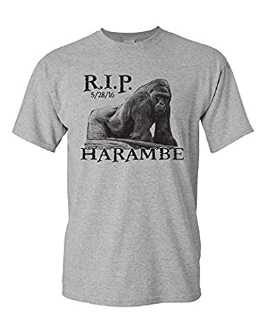 Jacted Up Tees Men's RIP Harambe Cincinnati Zoo T-Shirt(XX-Large)
