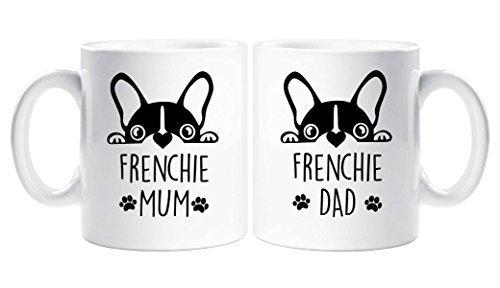 Französisch Mum Dad Becher-Set Paare Französisch Bulldogge