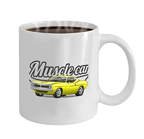 Funny Gifts for Halloween Party Gift Coffee Mug Tea muscle car cartoon classic poster print