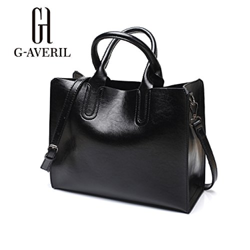 G-AVERIL, Borsa a mano donna Marrone Brown Black