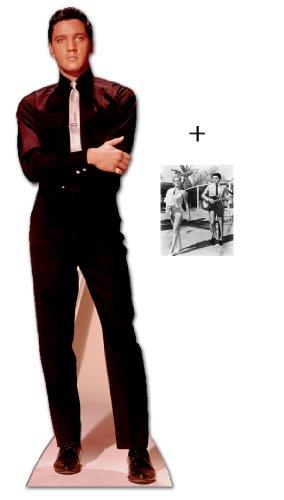 *FANBÜNDEL* - ELVIS PRESLEY IN BLACK SUIT AND WHITE TIE - LEBENSGROSSE PAPPFIGUREN / STEHPLATZINHABER / AUFSTELLER - ENTHÄLT 8x10