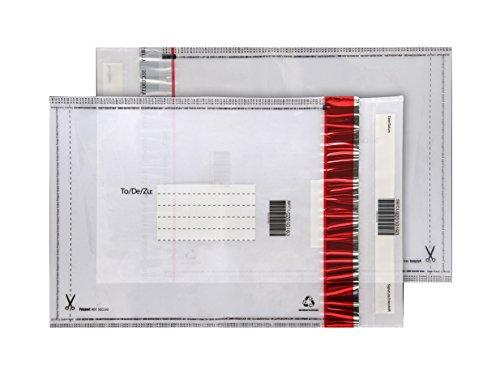 Purely Packaging - Busta con chiusura adesiva, formato C4, 320 x 240 mm, in polietilene trasparente