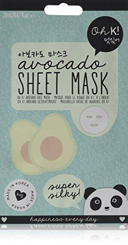 Oh K! Feuchtigkeitsspendendes Gesichtsmaskentuch – Avocado-Tuchmaske