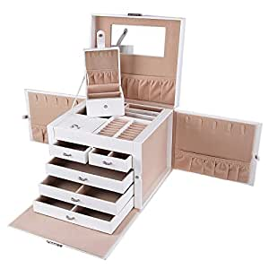 Songmics portagioie scatole per gioielli scatola custodia - Porta gioielli ikea ...