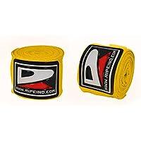 Ripe profesional mano Wraps MMA Guantes interiores vendas para boxeo, color amarillo