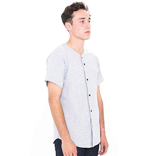 American Apparel -  T-shirt - Uomo Heather Grey (Base American Apparel T-shirt)