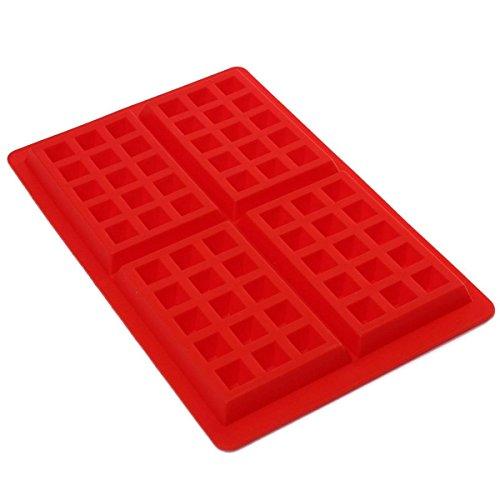 naisecore 4-cavity DIY Mini Waffeln Kuchen Schokolade Pfanne Silikon Tablett Form Backform Werkzeug, - Waffel Silikon-form