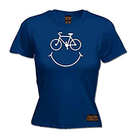 PREMIUM Ride Like The Wind - Women's Bicycle Smile LADIES FITTED T-SHIRT / tee / fashion funny cycling cycle bike top great gift presents accessories for him and her for christmas