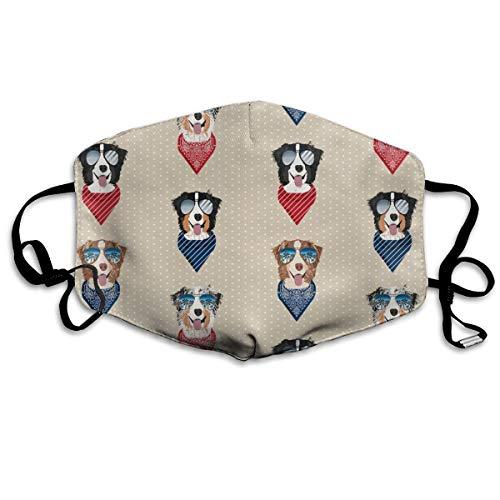 stralian Shepherd Summer Dog Breed Pet Tan Anti Dust Mask Anti-Pollution Washable Wiederverwendbar Mouth Masks ()