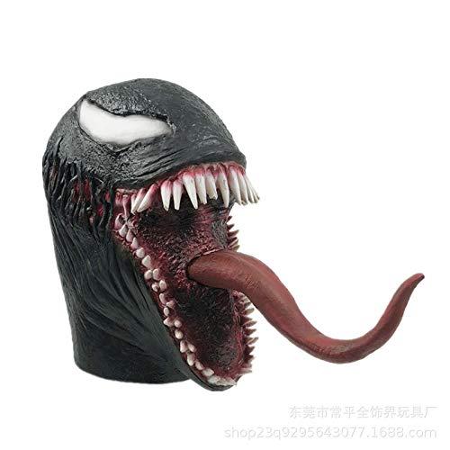 e Maske Mit Der Langen Zunge Cosplay Superheld Latex Horror Mask Beanie Hat,B ()