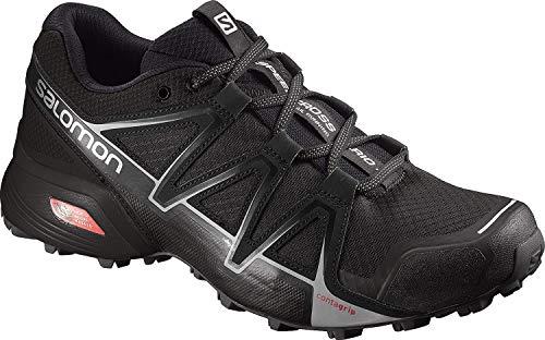 Salomon Speedcross Vario 2, Zapatillas de Trail Running para Hombre, Negro (Black/Black/Silver Metallic-X), 45 1/3 EU