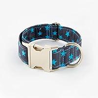 Galguita Amelie, 3cm Ancho Talla S (24cm - 40cm), Collar para Perro Antiescape. Estrella Azules.
