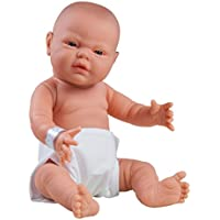 The Doll Factory The Doll Factory08.60307.08135 White Preemie Boy Doll with Just Born Blue Cloth and Babygrob