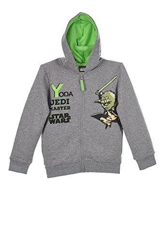Star Wars Yoda Startroopers Darth Vader (1040) - Kinder Kapuzenpullover Pullover Sweatshirt Hoody, Grau, Größe 104