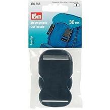 Prym - Cierre de hebilla (30mm, plástico), color negro