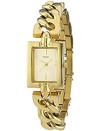 Guess W0437L2 - Reloj con correa de metal multicolor, para mujer, esfera de color dorado
