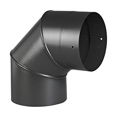 Coude 90° Sanpli rigide émail noir mat Diamètre 150mm - 342421