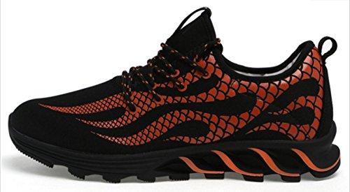 NSPX Scarpe da ginnastica di moda di Lightning Pattern di modo delle scarpe da tennis Scarpe da portare traspiranti di grande formato Scarpe sportive di grandi dimensioni , 41 388BLACKTANGERINE-42