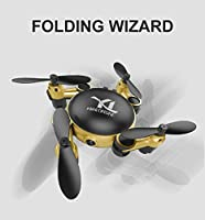 FancyWhoop Mini Folding Pocket Drone, Foldable Drone Quadcopter, Micro Quadcopter, Altitude Hold Mode Wifi FPV Real-time Transmission High-definition RC Quadcopter for Kids Children Toy Video Drone