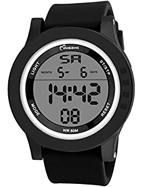Kinder Studenten Sport Uhren Digital Electronic Wasserdicht Outdoor Casual Herren-Armbanduhr
