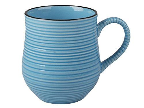 La Cafetière Kaffeetasse in hellen Farben, keramik, blau, 10.5 x 12 x 9 cm