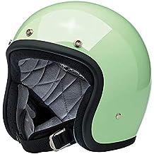 6c212361c935b Casco Jet Abierto Bonanza biltwell Gloss Mint Verde Menta Brillante  Aprobado Dot Helmet Biker Look Estilo