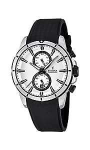 Festina - F16850-1 - Montre Homme - Quartz Chronographe - Cadran Blanc - Bracelet Plastique Noir