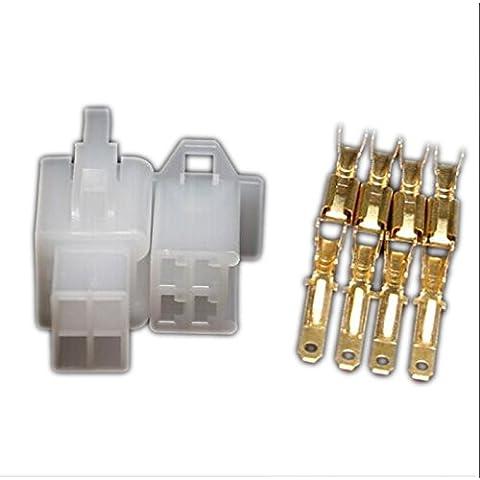 Set di 10 connettori elettrici da 2,8mm, 4pin, connettoreauto, cavo di collegamento per e-bike, auto, moto - Bike Set Di Accessori