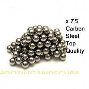 SMK Lot de 75billes BB en acier carbone pour lance-pierre/catapulte 9,5mm