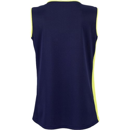 Spalding 3002411 4herii Débardeur Femme Bleu marine/jaune fluo
