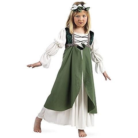 Limit Sport - Disfraz de Clarisa medieval para niña, color verde (MI792)