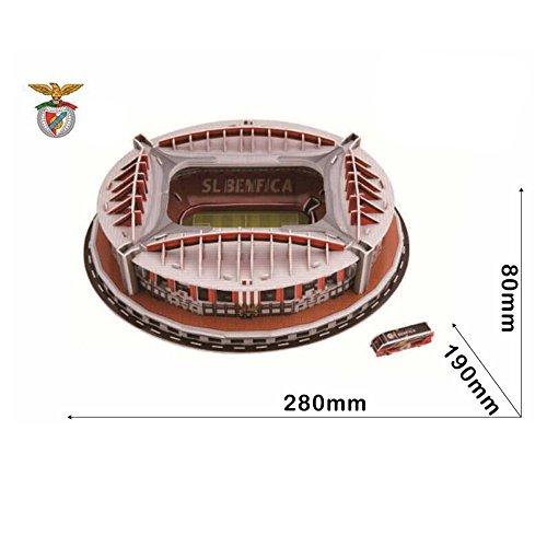 Xueyanwei Coppa Del Mondo Assemblare Puzzle Spagna Benfica Stadio 3D Modello Di Calcio Campo Calcio Fans Memorabilia Giocattoli Regalo Per Lo Sviluppo Dei Bambini ' Intelligenza