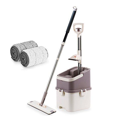 Britocean Self-Washing Magic Mop & Eimer mit Mikrofaser-pad