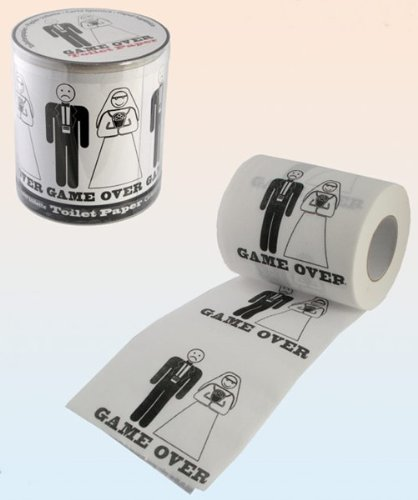 Toilettenpapier Hochzeit Heirat Game Over