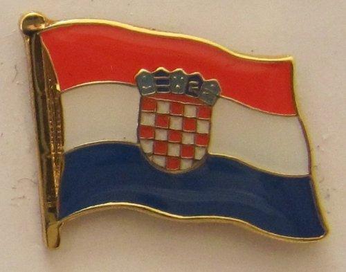 Pin Anstecker Flagge Fahne Kroatien Nationalflagge Flaggenpin Badge Button Flaggen Clip Anstecknadel