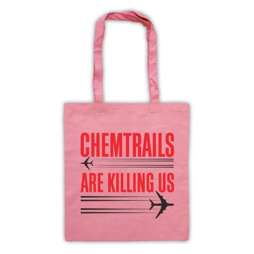Chemtrails sono Killing Us Protest Tote Bag Rosa