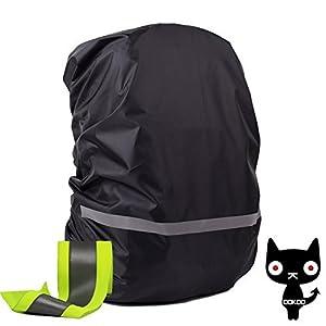 41AAiB4d%2B L. SS300  - OOKOO Waterproof & Reflective Backpack Cover Rain Cover, Rain Coat for Backpack, Backpack Rain Jacket, S Bag Cover for (8L - 17L) Backpack - Black - XS