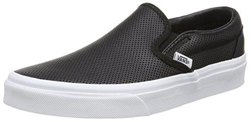 Vans U Classic Slip-on Sneaker, Unisex Adulto Nero (perf Leather/black)