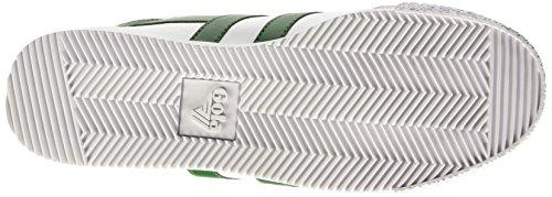 Gola Harrier Leather, Baskets Basses homme Blanc - White (White/Dark Green)
