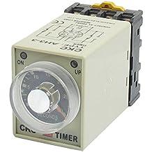 TOOGOO(R)DC 12V 0-30 Segundos 30s Electronico Tiempo de Retardo Temporizacion Rele DPDT 8P w Base