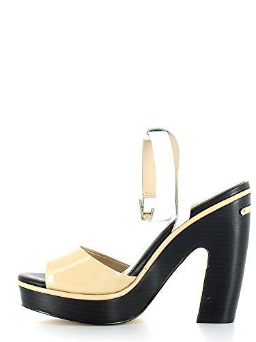 Liu Jo Santal Femmes Marylin Monoblocco Talon Cm 12,5 Pl. Cm 2,5 Leather Ivoire Crème