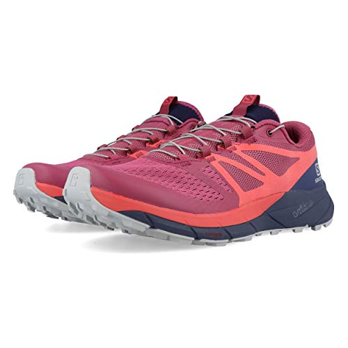 Salomon Sense Ride 2 Shoes Women Malaga/Dubarry/Crown Blue Schuhgröße UK 7 | EU 40 2/3 2019 Laufsport Schuhe