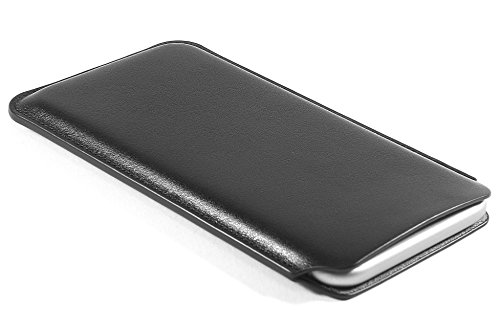 CushCase iPhone 8 / 7 / 6S / 6 Leather Case Pouch Sleeve 4.7 inch - Genuine Leather - Black
