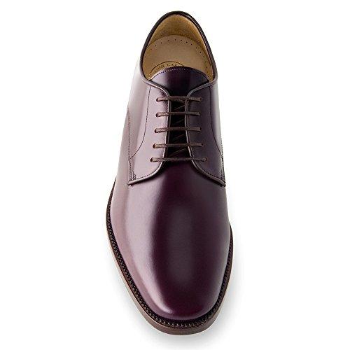 Masaltos-chaussures pour hommes sur manière Invisible Augmenter votre taille jusqu'à 7cm Modèle Orlando - Bordeauxrot
